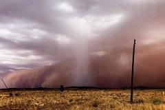 В Австралии продолжают бушевать природные пожары и песчаная буря