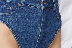 Модный бренд решил продавать джинсовые «трусы» по 340 долларов за пару