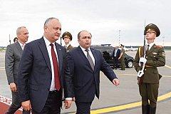Игорь Додон отправился на открытие Европейских игр в Минске
