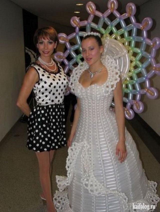 Необычные свадебные платья фото 22