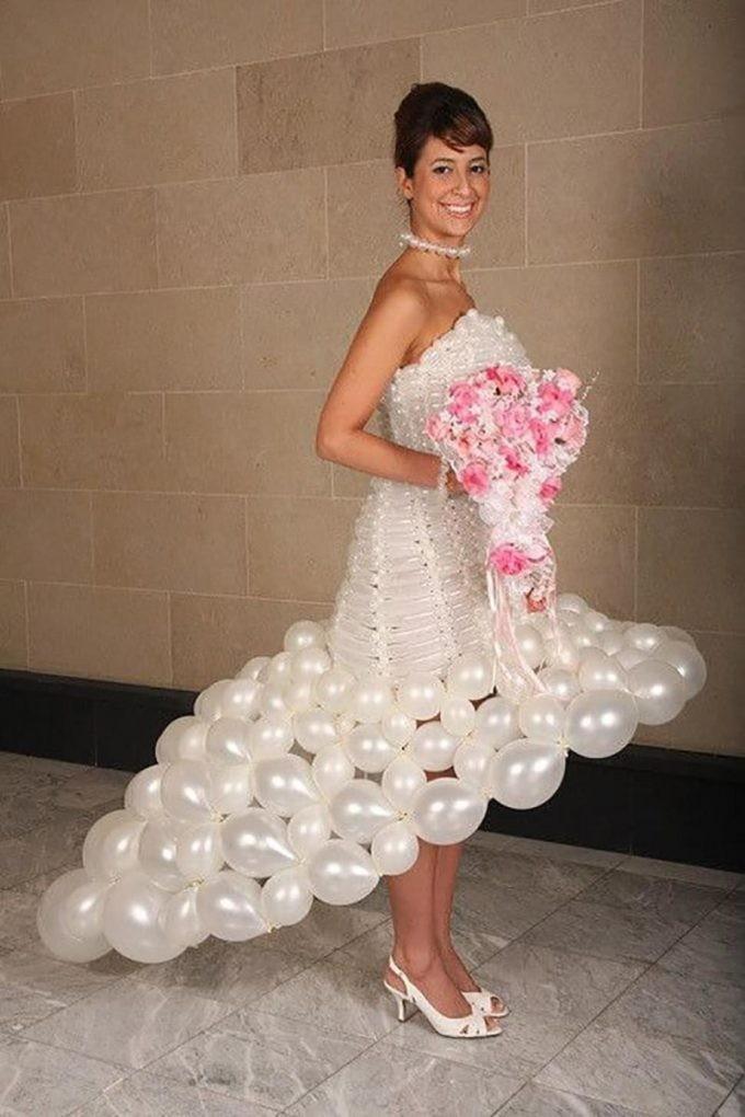 Пожалуй самое бюджетное свадебное платье...