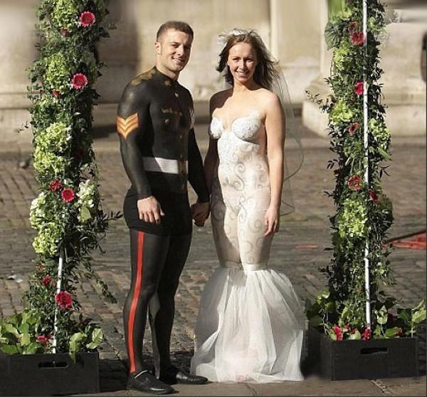 Необычные свадебные платья фото 9