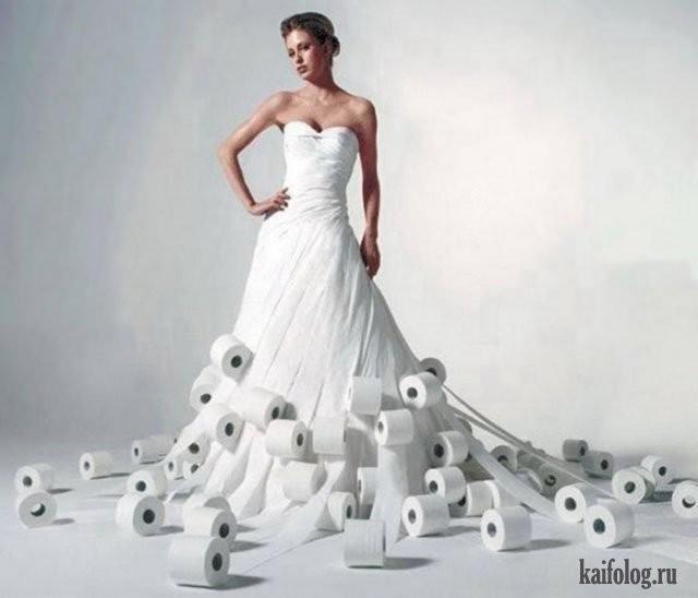 Необычные свадебные платья фото 21
