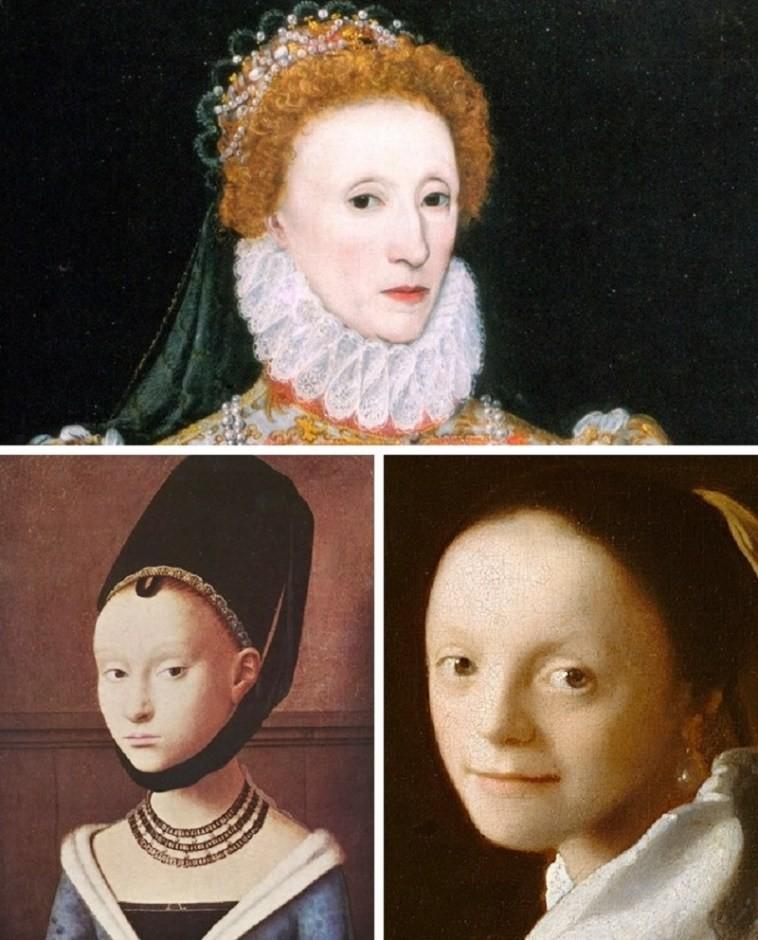 В средневековой Европе в моде были выщипанные ресницы.