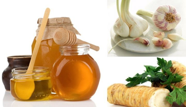 Настой из меда, чеснока, имбиря и лимона (активно применяют и сейчас)