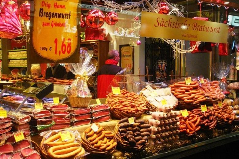 Сосиски и другие мясные продукты. Германия