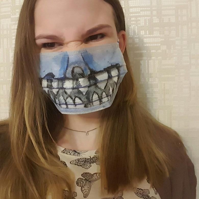 Креативные медицинские маски фото 8