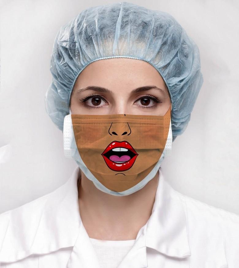 Креативные медицинские маски фото 7