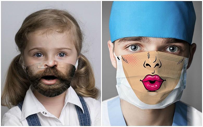 Креативные медицинские маски фото 3